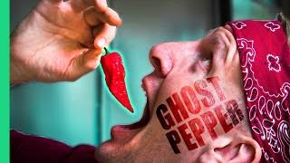 Spicy Indian Food Challenge! GHOST PEPPER Chutney and the SPICIEST Street Food in Delhi, India!