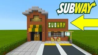 "Minecraft Tutorial: How To Make A Subway (Restaurant) ""2019 City Tutorial"""
