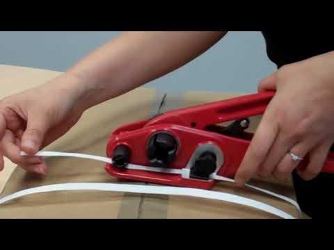 How to Use strapping tool/Flejadora Manual para Fleje Plastico