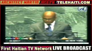 UN speech of President Michel  Martelly   9-26-2012