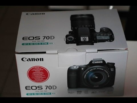 Canon EOS 70D unboxing. Kit with 18-135mm lens