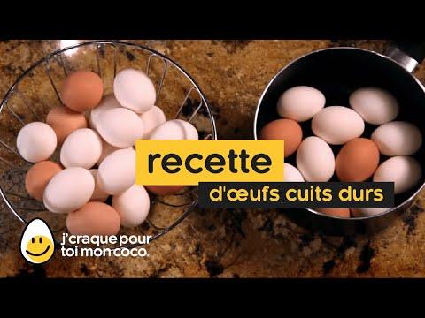 Comment faire des œufs cuits durs
