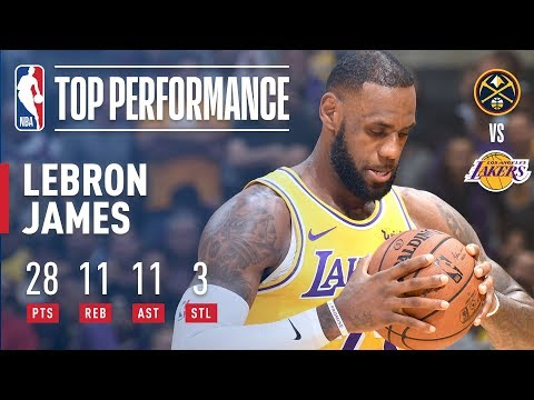 Video: LeBron James Records His First Triple-Double With the Lakers   October 25, 2018