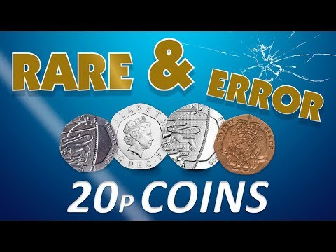 Rare and error 20p coins in circulation. Could they be worth £££?