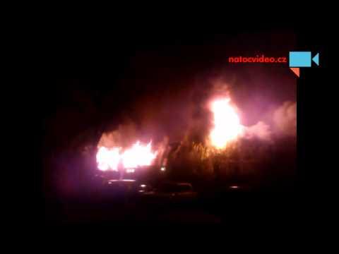 Požár Křižanovy Pily ve Valašském Meziříčí 18.11
