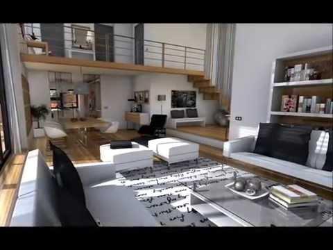 Proyectos de decoraci n para salones de planta cuadrada o for Programa interiorismo