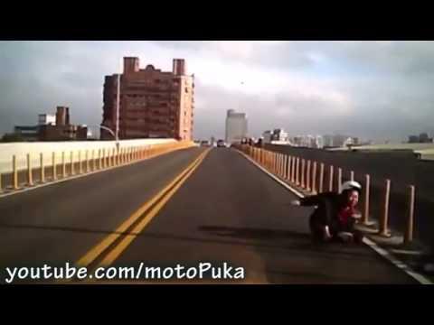 LOS PEORES MEJORES ACCIDENTES DE MOTO DEL MUNDO MUNDIAL