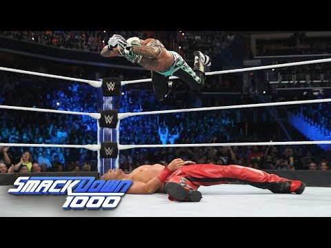 Rey Mysterio Vs. Shinsuke Nakamura - WWE World Cup Qualifying Match: SmackDown 1000, Oct. 16, 2018