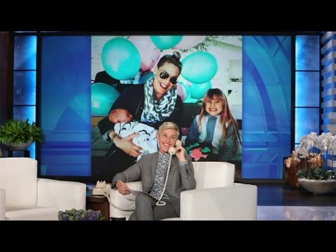 P!nk Talks Baby Number Two and Ellen's Theme Song (видео)