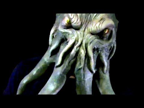 Cthulhu Demon Monster Halloween Latex Mask On A Minions' Head