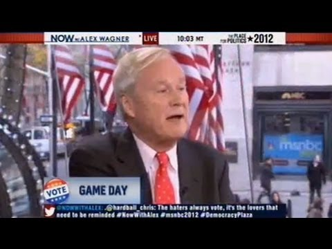 Chris Matthews: Non-Voters Are Idiots, I'm Glad Hurricane Sandy Happened Video