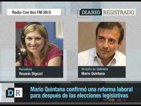 Quintana confirmó una reforma laboral, después de octubre