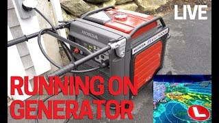 3. Honda Generator Running in Storm LIVE for 5 days on Backup Power EU7000is