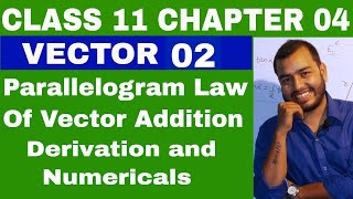 CLass 11 : Chapter 4  VECTOR 02  || VECTOR ADDITION || PARALLELOGRAM LAW OF VECTOR AADDITION ||