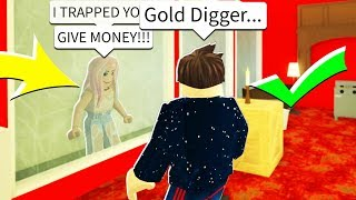 I DELETED The Gold Digger's House After She TRAPPED Me In Roblox Bloxburg