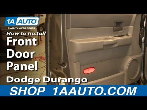How To Install Replace Remove Front Door Panel Dodge Durango 04-09 1AAuto.com