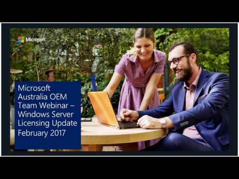 Windows Server 2016 OEM Licensing Presentation-2017 February
