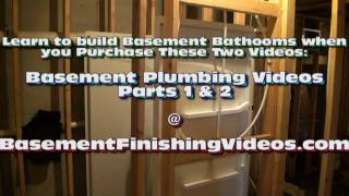 How to Frame and Plumb a Basement Bathroom