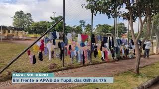 Advogado faz Varal Solidário em frente a Apae em Tupã