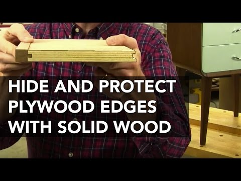 How to Attach Interlocking Solid-Wood Edging to Plywood (видео)