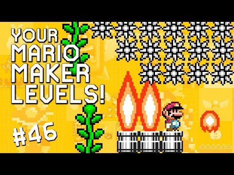 SPIKEY CASTLE OF FIRE - YOUR Mario Maker Levels #46 (видео)