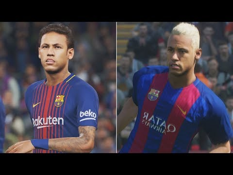 PES 2018 vs PES 2017 Comparison HD