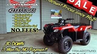 8. 2016 Rancher 420 2x4 Review of Specs (TRX420TM1G) - ATV SALE @ Honda of Chattanooga