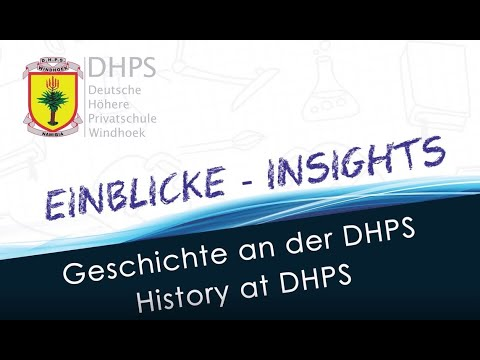 DHPS Virtual Expo 2021: Geschichte  -  History