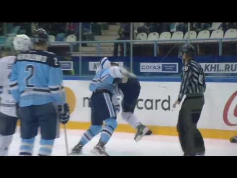 KHL Fight: Menshikov VS Klinkhammer (видео)