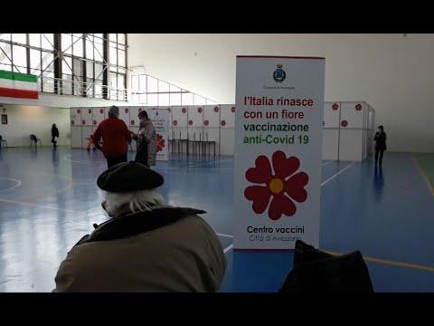 Avezzano - Inaugurato il centro di vaccinazione anticovid