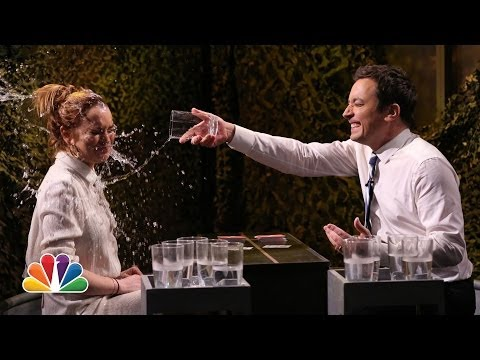 WATCH: Water War with Jimmy Fallon & Lindsay Lohan!