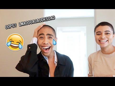 HE ASKED FOR A TRIM SO I SHAVED IT ALL OFF LOL_Legjobb vicces videók