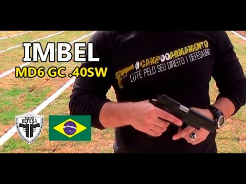 Pistola IMBEL MD6 GC .40SW