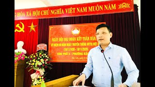 Bí thư Thành ủy Nghiêm Xuân Cường dự Ngày hội Đại đoàn kết toàn dân tại khu 3, phường Bắc Sơn