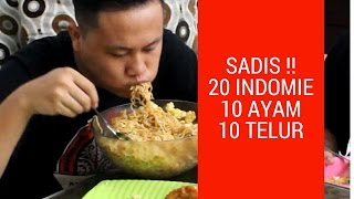 Video MUKBANG  20 INDOMIE + 10 TELUR + 10 AYAM GORENG!! AMPUN!! MP3, 3GP, MP4, WEBM, AVI, FLV November 2017
