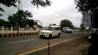 Solapur India  city photo : Indian president Pranav Mukherjee convoy in Solapur