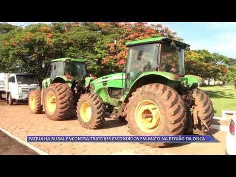 JATAÍ | Patrulha rural encontra tratores escondidos na mata