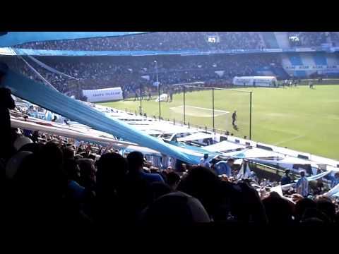 Entrada de la Hinchada de Racing 1 Independiente 0 - Fiesta Avellaneda - La Guardia Imperial - Racing Club - Argentina - América del Sur