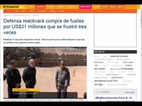 FFAA Peruanas Reactivará Compra de Fusiles Por US$31 Millones