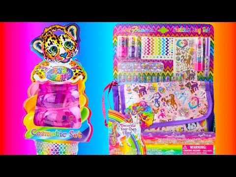 LISA FRANK Fashion Bag and Ice Cream Cone Cosmetic Set