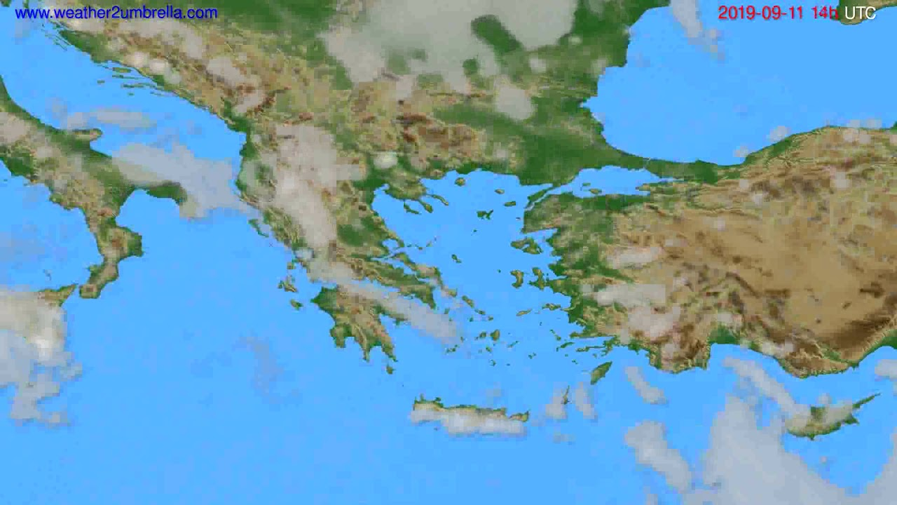 Cloud forecast Greece // modelrun: 00h UTC 2019-09-09
