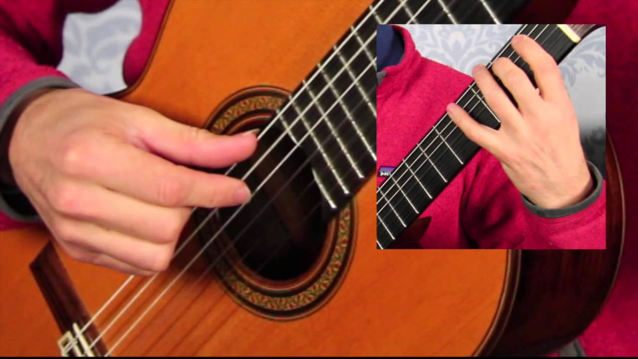 Right Hand Scale Demonstration (classical guitar)