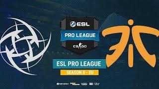 NiP vs Fnatic - ESL Pro League S8 EU - bo1 - de_train [Anishared]