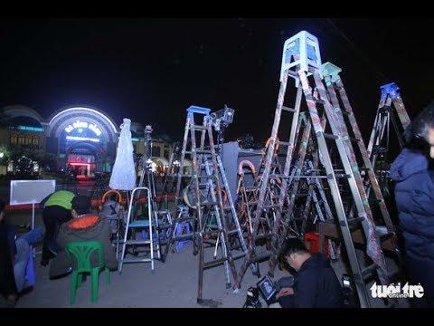 Hàng trăm phóng viên giữ chỗ, thức xuyên đêm chờ đón Chủ tịch Triều Tiên - Thời lượng: 1:08.