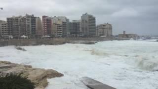Sliema Malta  city pictures gallery : Rough Seas in Sliema - Malta