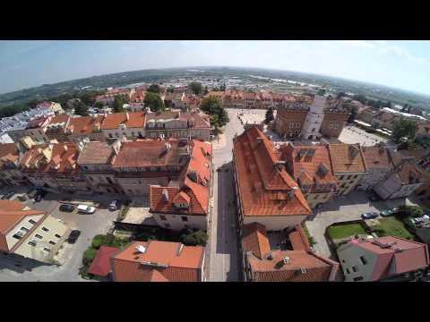 DRON Sandomierz z lotu ptaka