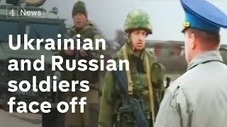 Ukrainian and Russian soldiers face off at Belbek | Channel 4 News