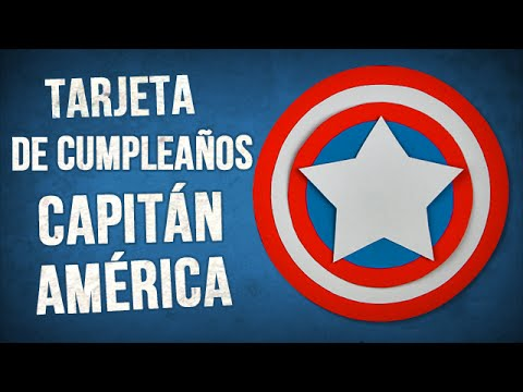 Tarjetas de cumpleaños - Tarjeta de cumpleaños tridimensional del Capitán América