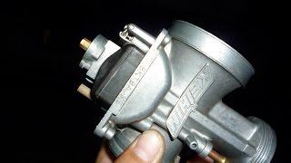 10. How to adjust float height on a dirt bike carburetor - Keihin PWK 38