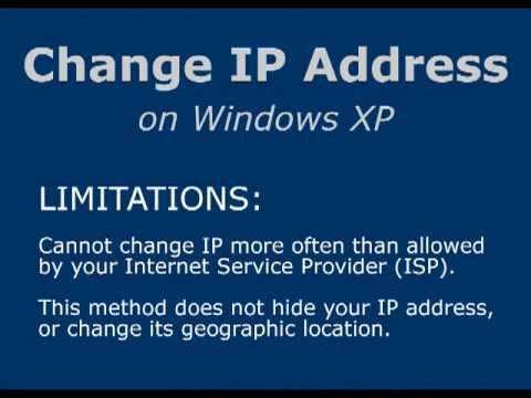 Change IP Address on XP